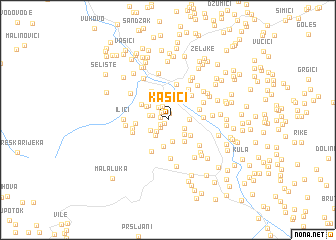 map of Kašići