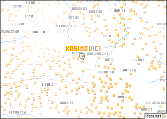 map of Kasimovići