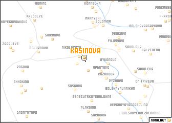 map of Kasinova