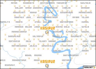 map of Kāsipur