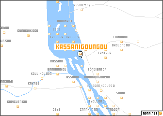 map of Kassani Goungou