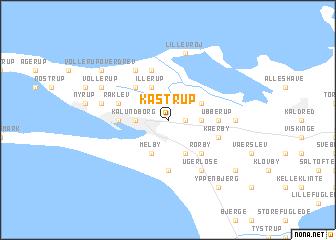 map of Kåstrup