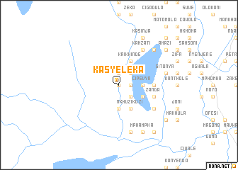 map of Kasyeleka