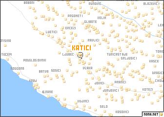 map of Katići