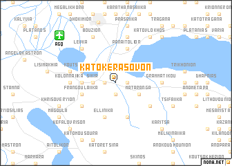 map of Káto Kerásovon