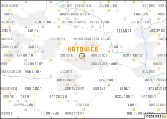 map of Katowice