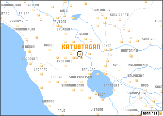map of Katubtagan