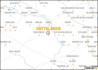 map of Kąty Śląskie