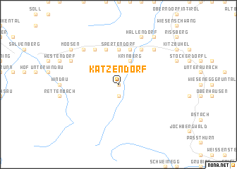 map of Katzendorf