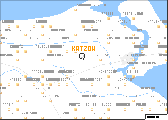 map of Katzow