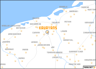 map of Kauayans