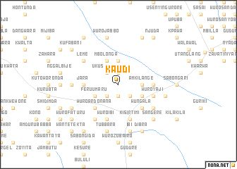 map of Kaudi