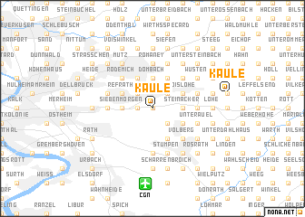 map of Kaule