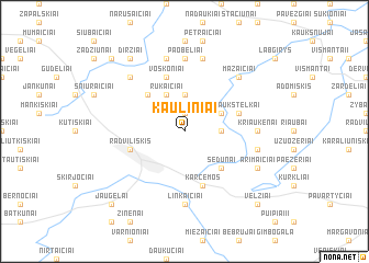map of Kauliniai