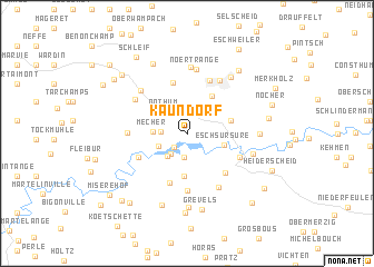 map of Kaundorf