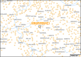 map of Kaurinovići