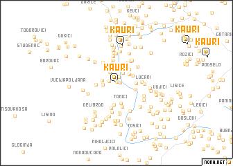 map of Kauri