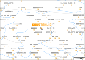 map of Kaustekliai