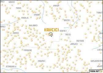 map of Kavčići