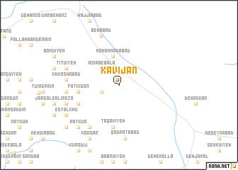 map of Kavījān