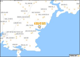 map of Kavran