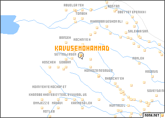 map of Kāvūs-e Moḩammad