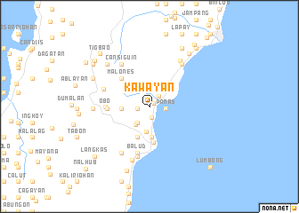 map of Kawayan