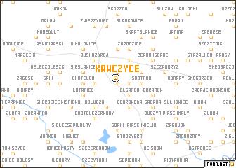 map of Kawczyce