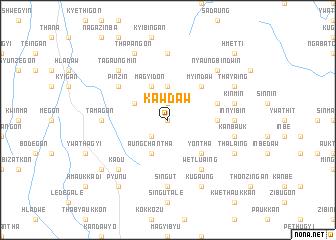 map of Kawdaw