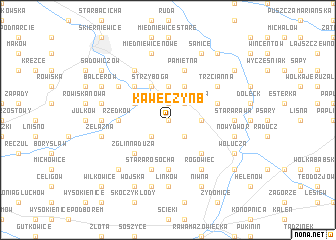 map of Kawęczyn B