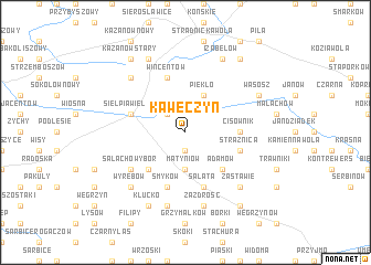 map of Kawęczyn
