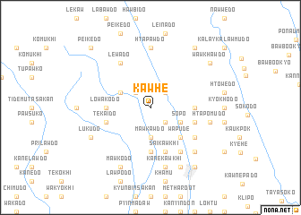 map of Kawhe