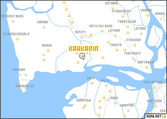 map of Kawkarin