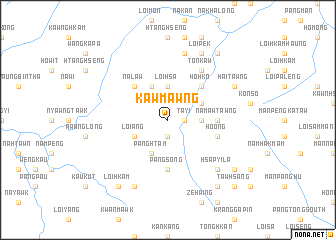 map of Kawmawng