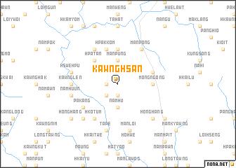 map of Kawnghsan
