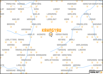 map of Kawngyau