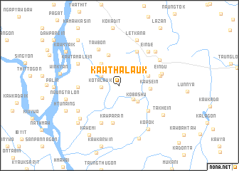 map of Kawthalauk