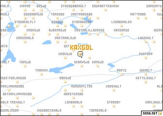 map of Käxgöl