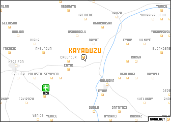 map of Kayadüzü