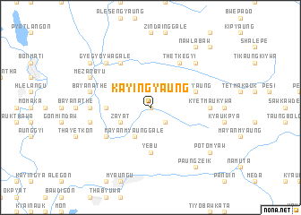 map of Kayingyaung