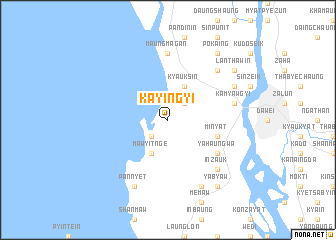 map of Ka-yin-gyi