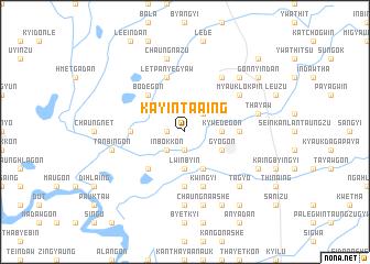 map of Kayin-ta-aing