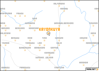 map of Kayonkuya