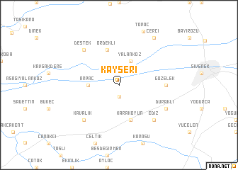 map of Kayseri