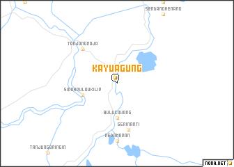 map of Kayuagung
