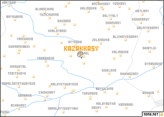 map of Kazakkasy