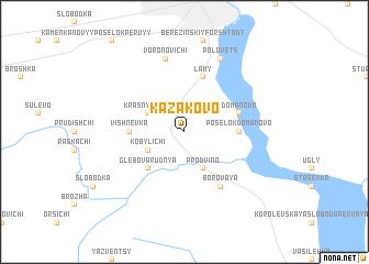 map of Kazakovo