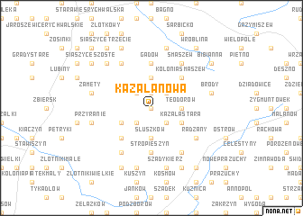 map of Kazała Nowa