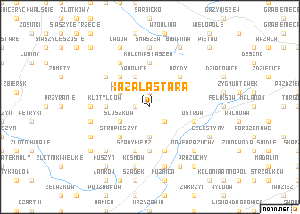 map of Kazała Stara