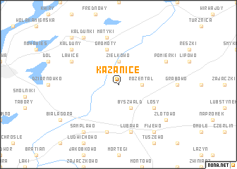 map of Kazanice